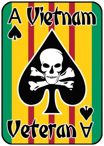 VIETNAM VETERAN ACE OF SPADES DECAL/STICKER