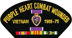 Purple Heart Vietnam 1959-75 Black Patch