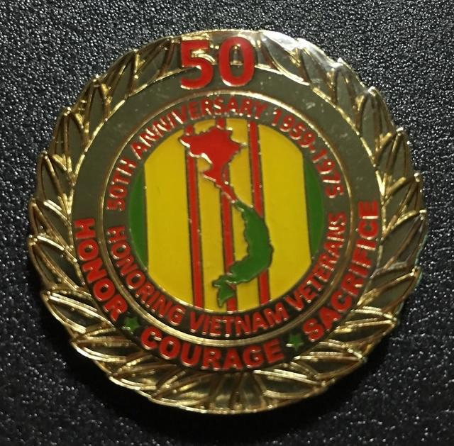 Vietnam Veteran 50th Anniversary hat pins